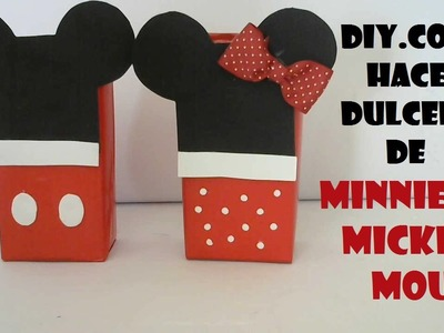 COMO HACER DULCEROS DE MINNIE Y MICKEY MOUSE