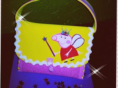 DIY Como Hacer Bolsa PEPPA PIG Para Niña