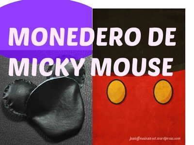 DIY: MONEDERO DE MICKEY MOUSE || SUPER FÁCIL (Mi Vydalid)