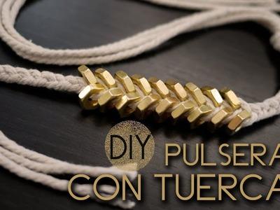 DIY: Pulseras con tuercas ♥