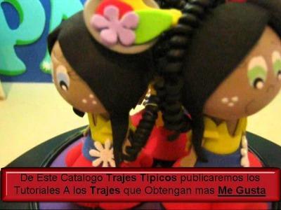 FOFULAPICES TRAJES TIPICOS PALENQUERA CARTAGENA DE INDIAS EN FOAMI O GOMA EVA aRTFOAMICOL