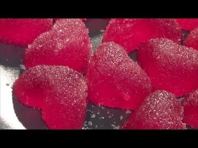 Gominolas paso a paso sabor granadina