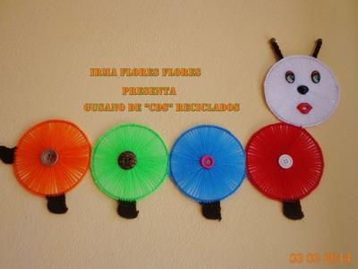 GUSANO DE CDS RECICLADOS