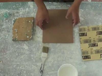 Imprimatura de madera para pintar con óleo o acrílico. Curso de pintura.