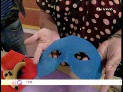 Mascaras de carnaval en foamy