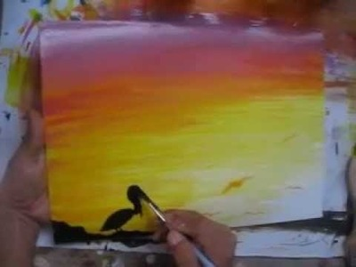 Painting lesson high school - tutorial de pintura para secundaria