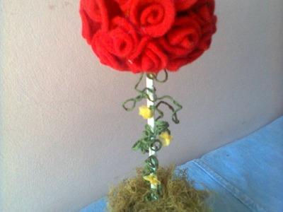 Topiario navideño . Christmas topiary. proyecto 198