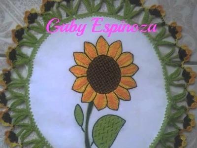 Bordado Fantasia-Proyecto XIX-Princesas-Girasoles-Lily Ocampo y Lupita Acero Bordados Mexicanos