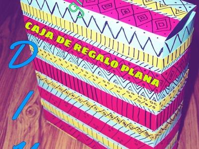 Caja de regalo plana. Regala  libros. gift book. DIY- Gift Box.estilo étnico.