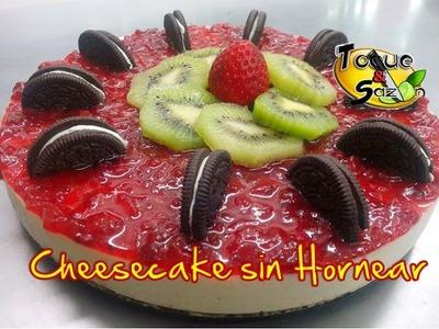 """Cheesecake Oreo """"SIN HORNEAR""""  """"paso a paso"""" (TOQUE Y SAZÓN)"""