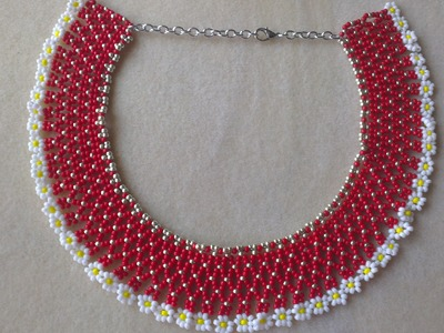 COLLAR DE MOSTACILLAS O ROCALLAS- SEED BEADS NECKLACE