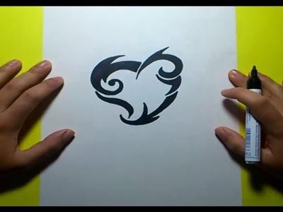 Como dibujar un tribal paso a paso 93 | How to draw one tribal 93