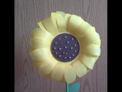 Como hacer una Flor de Girasol