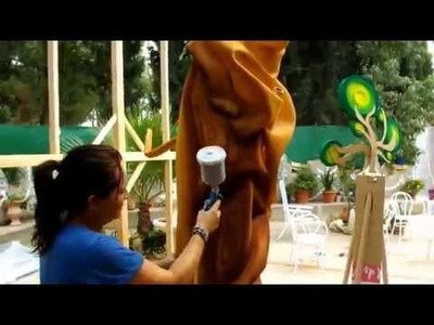 Como pintar un arbol de gomaespuma