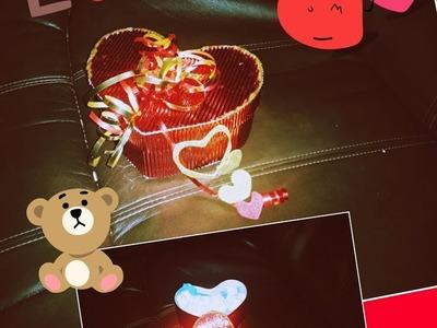 DIY Como Hacer Caijta de amor con papel corrugado