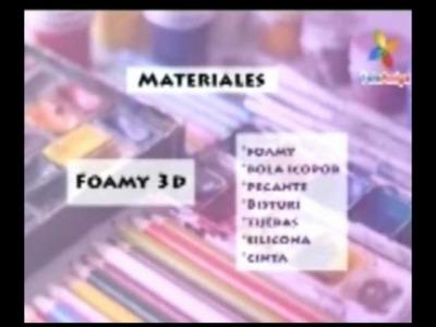 Fofucha 3D pitufina tallerista Claudia Prias (aprenda y venda)