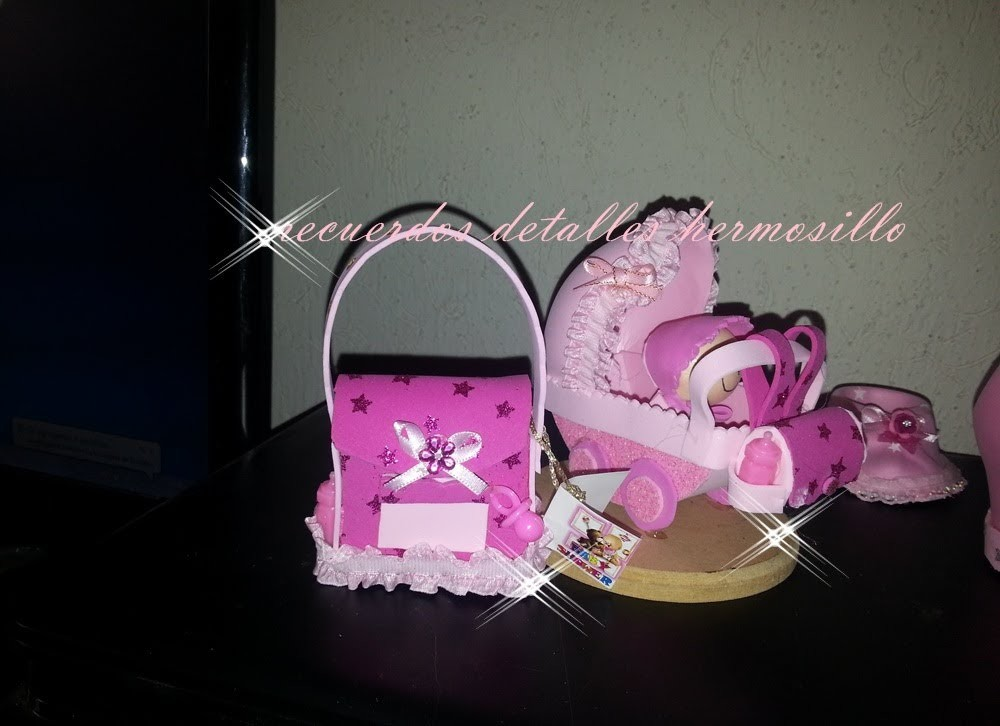 Fotos recuerdo de baby shower pañalera