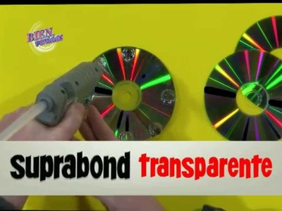 Martín Muñoz - Bienvenidas TV en HD - Crea un reloj de mesa con cd y hotmelt.