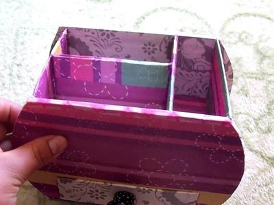 Organizador multiuso de carton-facil de hacer