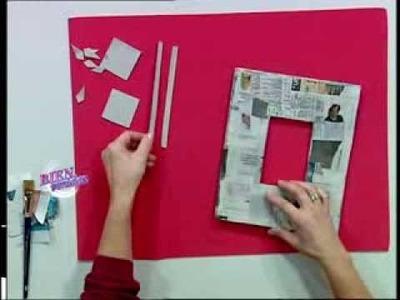Silvina Buquete - Bienvenidas TV - Realiza un marco con relieve en cartapesta.