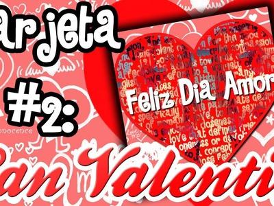 Tarjeta #2: Tarjeta con foto sobre texto ♥ Dia de San Valentin {Photoshop Cs6}