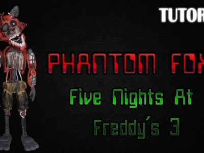 Tutorial Phantom Foxy en Plastilina | FNaF 3 | Phantom Foxy Clay Tutorial