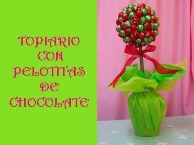 TUTORIAL:TOPIARIO CON PELOTITAS DE CHOCOLATES