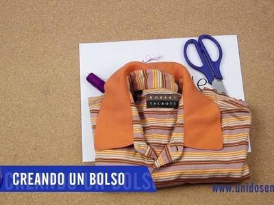 Como crear un bolso a partir de una camiseta vieja.