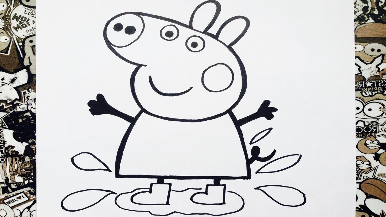 Como dibujar a peppa paso a paso | how to draw peppa pig