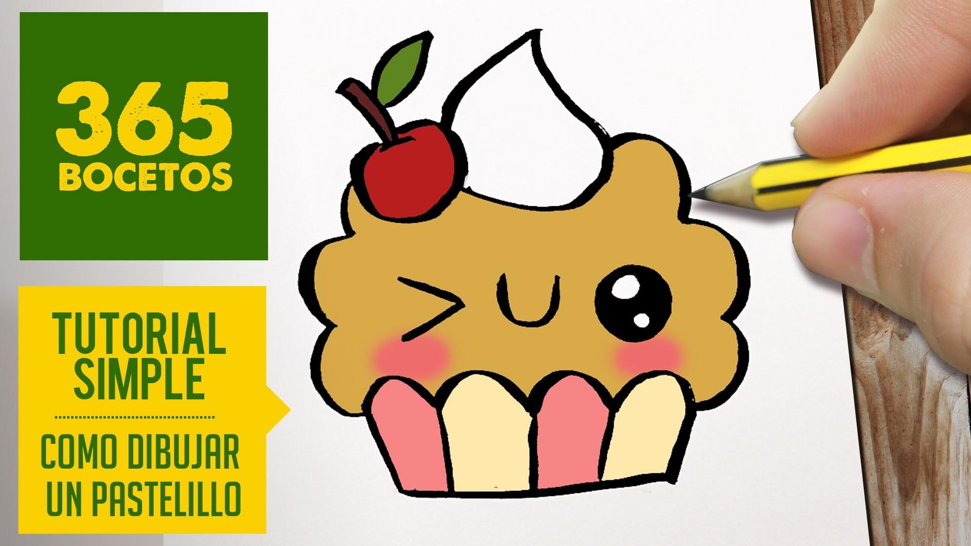 how to draw a kawaii cupcake