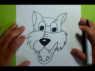 Como dibujar un lobo paso a paso 5 | How to draw a wolf 5