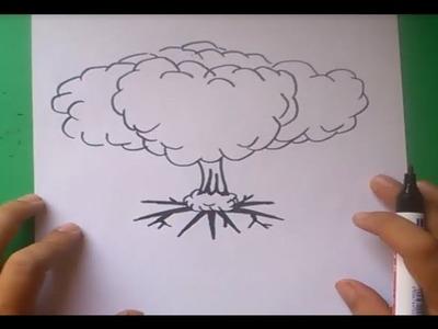 Como dibujar una explosion paso a paso   How to draw an explosion