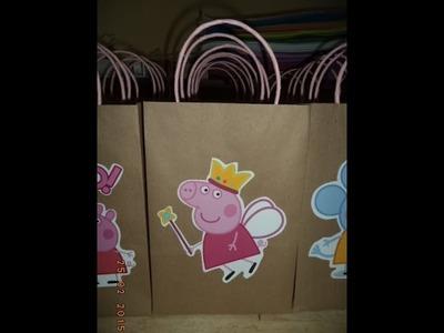 Como hacer bolsas de papel para sorpresa de peppa pig