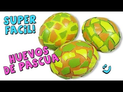 Como Hacer Huevos de Pascua *Decorate Easter Eggs* Decorar Huevos Pintura Facil
