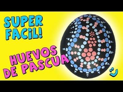 Como Pintar Huevos Dot Painting *Dot Painting Easter Eggs* Huevos de Pascua Pintura Facil Para Ti