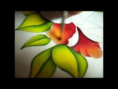 Como Pintar una Flor con Luces y Sombras