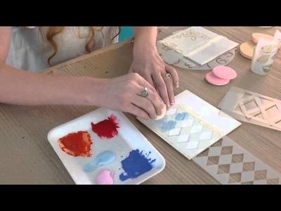 Como usar Estencil - How to  Stencil - Herminia Devoto - Maria Rita Pinotti