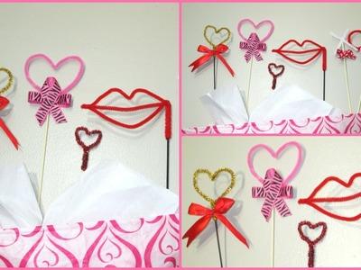 DIY Decoraciones hechas con limpia pipas para San Valentin. Dia del Amor y  Amistad