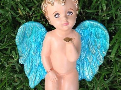 DIY Pinta cerámica de angelito mod2 painted ceramic angel