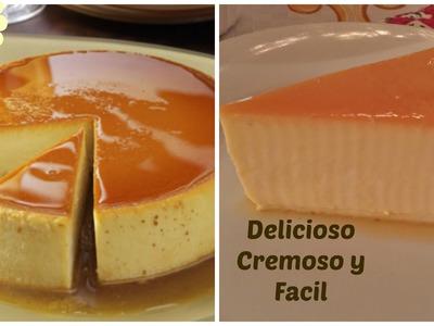Flan Cremoso Casero Delicioso y Facil
