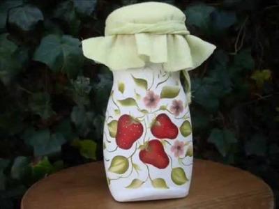 Frascos y botellas recicladas