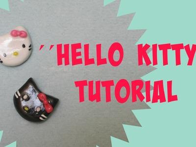 Hello Kitty (SIN MOLDE): Porcelana Fria.Arcilla Polimerica Tutorial