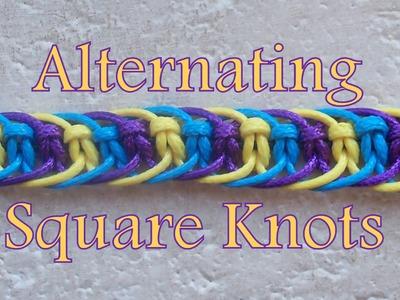 Pulsera de Hilo: Alternating Square Knots