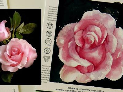 Tutorial Acuarelas: Como dibujar y pintar una ROSA realista by ART Tv