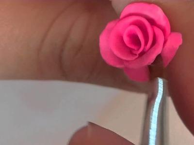 Tutorial diseño de rosa para uña