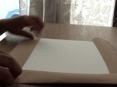 Tutorial para preparar el papel para pintar a la acuarela.