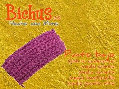 Bichus - Ganchillo Básico ZURDOS 3 - Punto Bajo sobre cadeneta