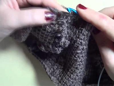 Bufanda a conjunto con los guantes mitones 2