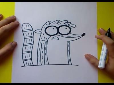 Como dibujar a Rigby paso a paso 2 - Un show mas | How to draw Rigby 2 - Regular show