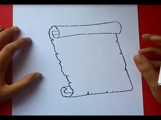 Como Dibujar Un Pergamino Paso A Paso 2, How To Draw A